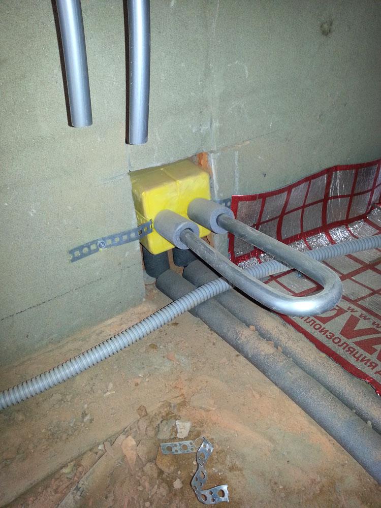 блок подключения радиатора